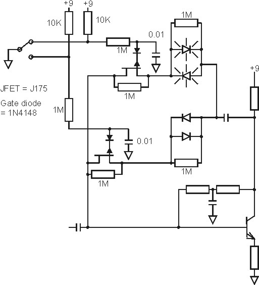 popping on diode clipping switch